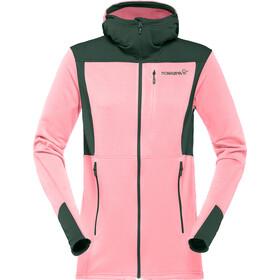 Norrøna Falketind Warm1 Stretch Zip Hoodie Dame geranium pink